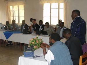 Le Représentant Légal de Mi-PAREC accueille les participants  pendant les Cérémonies d'Ouverture de la 9ième session de GLPI