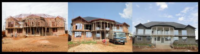 Les différentes étapes de construction du nouveau bloc administratif du Mi-PAREC