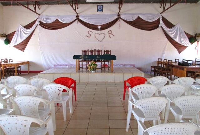 La Grande Salle decorée pour une fête de marriage