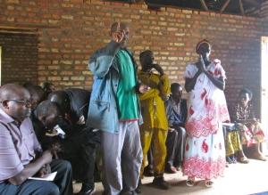 Des membres du Comité de Paix de Mi-PAREC à Rohororo NGOZI partagent leurs témoignages de la réconciliation